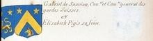 VOLUMES RELIES du Cabinet des titres : recherches de noblesse, armoriaux, preuves, histoires généalogiques. Armorial général de France, dressé, en vertu de l'édit de 1696, parCharles D'HOZIER. (1697-1709). XXIII Paris, I. page 763