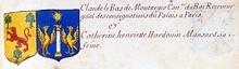 VOLUMES RELIES du Cabinet des titres : recherches de noblesse, armoriaux, preuves, histoires généalogiques. Armorial général de France, dressé, en vertu de l'édit de 1696, parCharles D'HOZIER. (1697-1709). XXIV Paris, II. page 1735