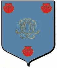 Jacques LEQUEUX, Bourgeois de Paris, dépose ce blason à ses initiales entrelacées (JLQ), dans le Registre d'Hozier, chapitre de Paris.Hozier orthographie son nom Le QUEULX, certainement à la demande du titulaire des armoiries, mais les actes de l'époque montrent que sur les documents d'Etat-Civil, le nom de famille est LEQUEUX et chez le même notaire, les actes commerciaux (par exemple, reconnaissance de dette), le patronyme devient Le QUEULX.Au moins trois générations (Jacques et ses fils et petit-fils, également prénommés Jacques ont utilisé ce blason).