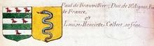 VOLUMES RELIES du Cabinet des titres : recherches de noblesse, armoriaux, preuves, histoires généalogiques. Armorial général de France, dressé, en vertu de l'édit de 1696, parCharles D'HOZIER. (1697-1709). XXIII Paris, I. page 812