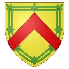 Armes de la famille de GAVRE seigneur d'ESCORNAIX sur écu ancien.