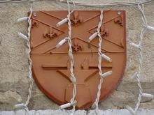Blason visible sur la façade de la Mairie. Prise de vue photographique du 30 juin 2020 cadre contribution Geneawiki → https://fr.geneawiki.com/index.php/21432_-_Montigny-sur-Aube .