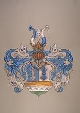 So findet sich das Wappen bei Siebmacher. Das Wappen des Bartholomäus Schönebeck führt als Helmzier aber nur den Stechhelm und ist auf seinem Grab ohne Farb-gebung.