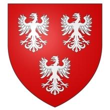 Armes de la famille de GAVRE seigneur de CHIEVRES sur écu ancien.