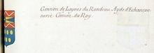 VOLUMES RELIES du Cabinet des titres : recherches de noblesse, armoriaux, preuves, histoires généalogiques. Armorial général de France, dressé, en vertu de l'édit de 1696, parCharles D'HOZIER. (1697-1709). XXIII Paris, I. page 705