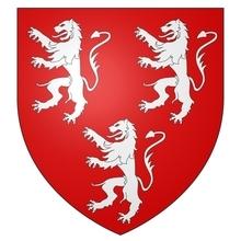 Armes de la famille de GAVRE seigneur de LIEDEKERKE et CHIEVRES sur écu ancien.