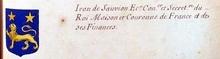 VOLUMES RELIES du Cabinet des titres : recherches de noblesse, armoriaux, preuves, histoires généalogiques. Armorial général de France, dressé, en vertu de l'édit de 1696, parCharles D'HOZIER. (1697-1709). XXIV Paris, II. page 1211