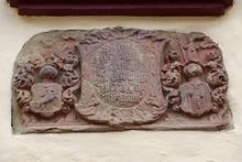 Wappen Im Innenhof der Westerburg im Huy
