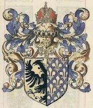 Blason de Charlemagne, roi de France et empereur d'Occident.
