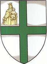 Blason de la Commanderie de Nouvelle-Calédonie de l'Ordre Militaire et Hospitalier de Saint-Lazare de Jérusalem (Obédience de Malte)
