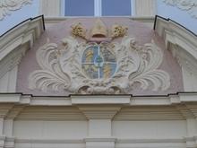Wappen am Gebäude auf der Huysburg