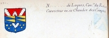 VOLUMES RELIES du Cabinet des titres : recherches de noblesse, armoriaux, preuves, histoires généalogiques. Armorial général de France, dressé, en vertu de l'édit de 1696, parCharles D'HOZIER. (1697-1709). XXIV Paris, II. Page 1270