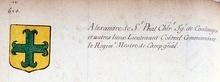 VOLUMES RELIES du Cabinet des titres : recherches de noblesse, armoriaux, preuves, histoires généalogiques. Armorial général de France, dressé, en vertu de l'édit de 1696, parCharles D'HOZIER. (1697-1709). XXV Paris, III. page 620