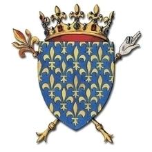 Armoiries des BOURBONS. Robert de Clermont (1256-1317), 10e et avant-dernier enfant de saint Louis, ainsi possédant la terre de Bourbon «du droit de sa femme» (de iure uxoris). La troisième maison de Bourbon accéda au trône de Navarre en 1555 puis au trône de France en 1589 par Henri IV.