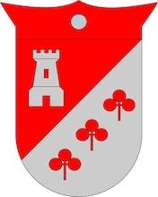 métaux argent couleur garance famille la tour symbole trois trèfle