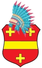 Chief VIEUX Louis —Louis Amable VIEUX— (11/30/1809-05/03/1872) was the Chief of the Potawatomi People. He was a direct ascendant of Jim Thorpe, the best football player of all times.Arms described in: Rietstap.Just for information: Indian Chiefs don't need a helmet —Spanish conquistadors did! (It's why I replaced the trivial heraldic helm by an Indian Chief feather hat ;-)