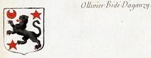 VOLUMES RELIES du Cabinet des titres : recherches de noblesse, armoriaux, preuves, histoires généalogiques. Armorial général de France, dressé, en vertu de l'édit de 1696, parCharles D'HOZIER. (1697-1709). XXIV Paris, II. page 1918