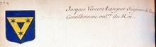 VOLUMES RELIES du Cabinet des titres : recherches de noblesse, armoriaux, preuves, histoires généalogiques. Armorial général de France, dressé, en vertu de l'édit de 1696, parCharles D'HOZIER. (1697-1709). XXIII Paris, I.  page 774
