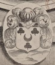 L'image proposée est tirée du portrait de Dreux d'Aubray, seigneur d'Offémont et de Villiers-sur-Orge, lieutenant civil de Paris, dessiné par l'illustrateur Robert Nanteuil, son contemporain. Ce portrait est librement consultable sur Gallica. Rappelons que Dreux d'Aubray fut le père de Marie-Madeleine d'Aubray, la tristement célèbre marquise de Brinvilliers, qui empoisonna toute sa famille, entraînant l'extinction des Aubray
