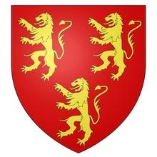Armes de la famille de GAVRE seigneur de LIEDEKERKE sur écu ancien.