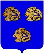 armes de Madeleine d'HENNEQUIN epouse de Charles de Colbert, Seigneur du Terron conseiller du Roi en ses conseils d etat et privé............../................../VOLUMES RELIES du Cabinet des titres : recherches de noblesse, armoriaux, preuves, histoires généalogiques. Armorial général de France, dressé, en vertu de l'édit de 1696, parCharles D'HOZIER. (1697-1709). XXIV Paris, II.  page 1537